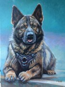 """Chase"" VPD retirement painting commission"
