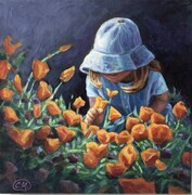 """Sophie in the California Poppies"""